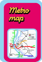 Location of this vacation apartment on Budapest metro map